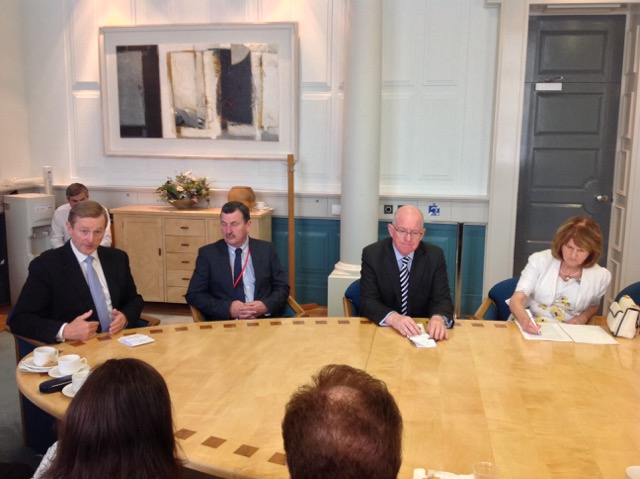 ENDA KENNY AT ROUND TABLE