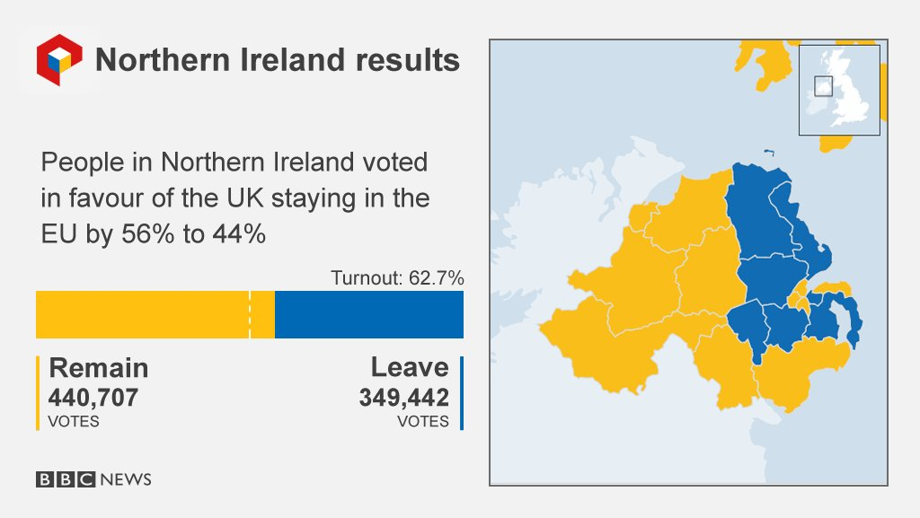 ireland map on brexit